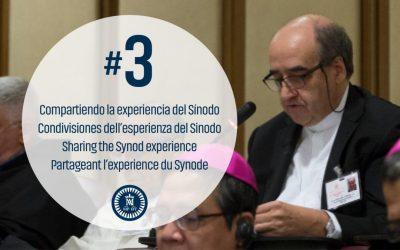 Desde el sínodo, Pedro Aguado, general de los Escolapios